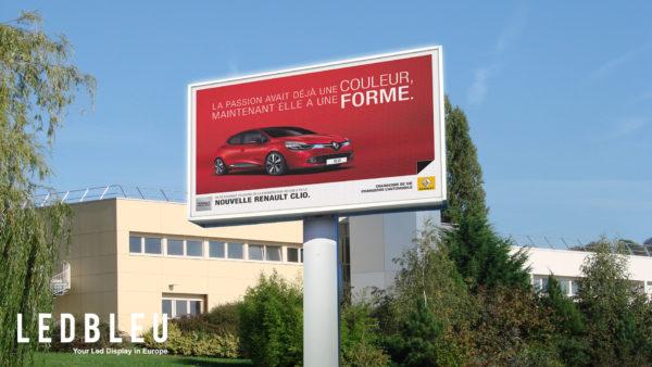 Ecran exterieur monopied garage automobile Lyon