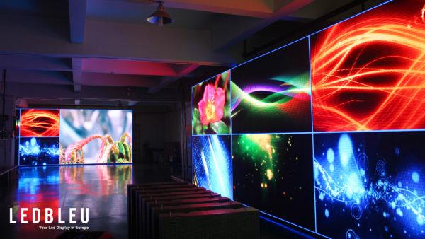 Mur d'écrans led