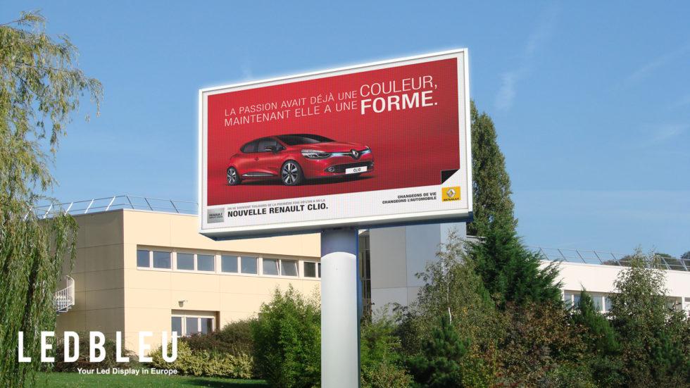 Cran ext rieur g ant pour affichage publicitaire ledbleu for Garage auto lyon