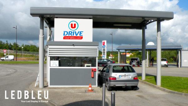 affichage-led-station-service-supermarche-grenoble-2