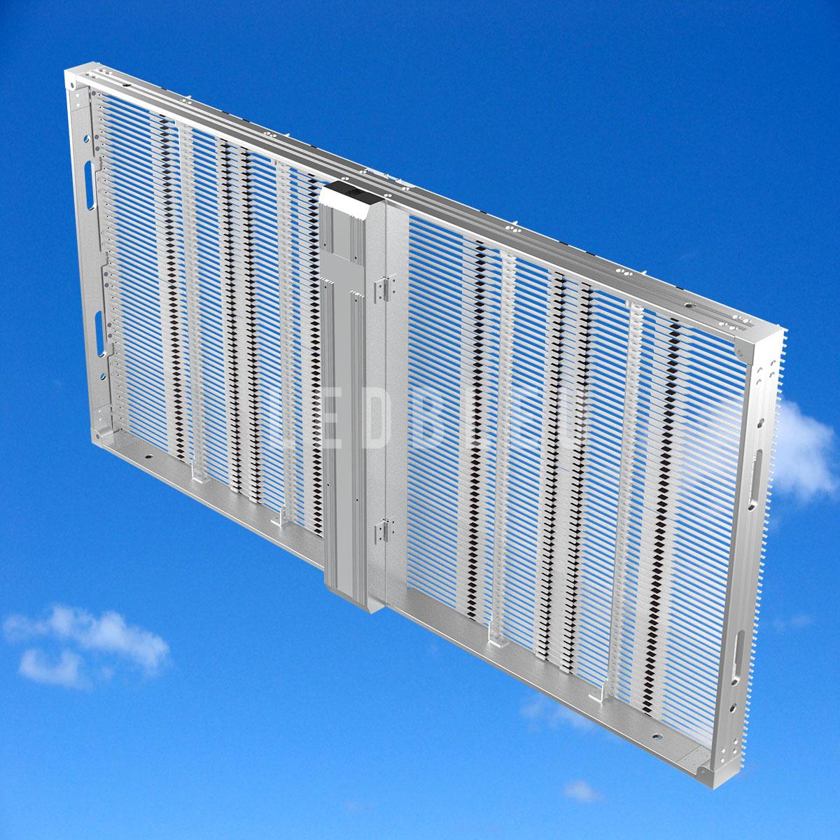 Dalle écran led semi transparent LEDBLEU Vue arrière 100x50