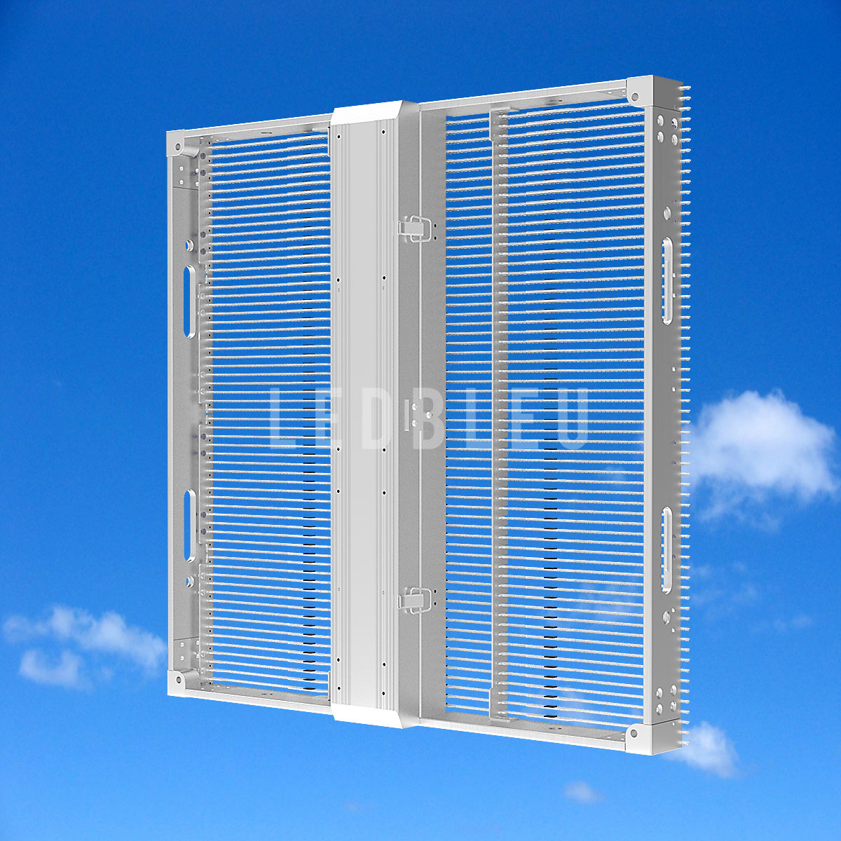 Dalle écran led semi transparent LEDBLEU Vue arriere 50x50
