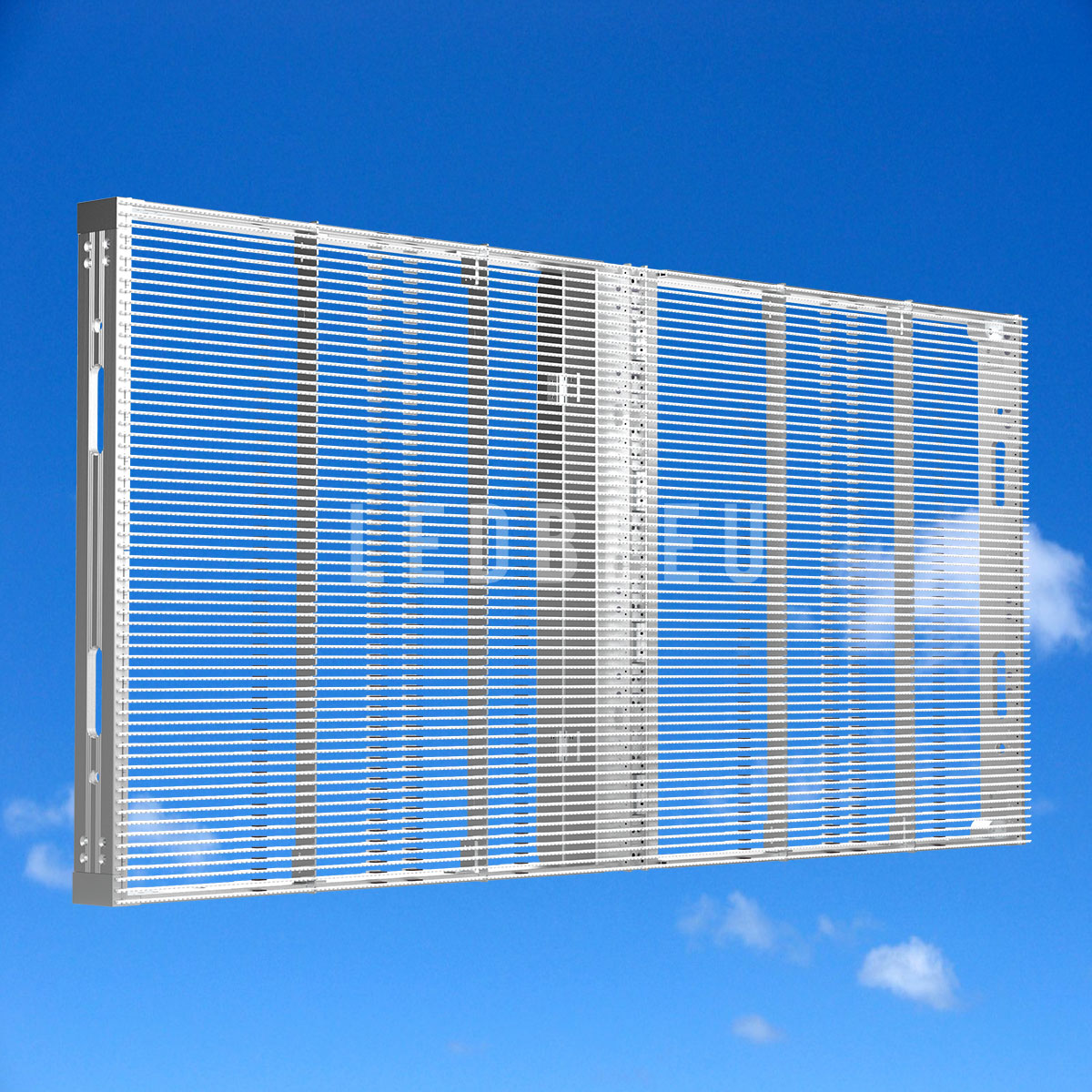 Dalle écran led semi transparent LEDBLEU Vue avant 100x50
