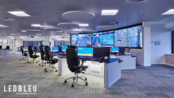 Mur led pour salles de contrôle et surveillance